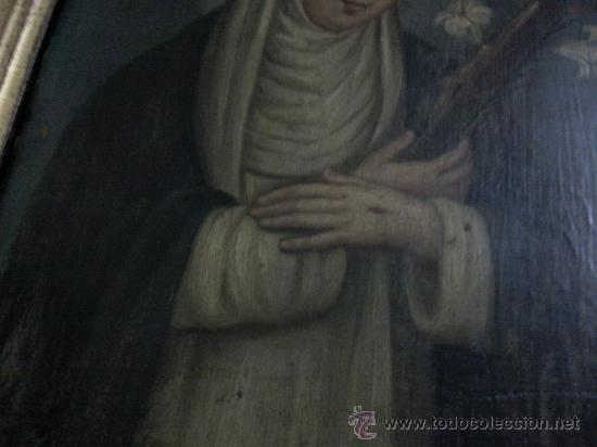 Arte: Antiguo óleo sobre cobre imagen de Santa Catalina de Siena - Foto 4 - 27394754