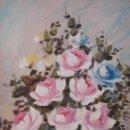 Arte: S. BOIX. OLEO SOBRE TABLA. ENMARCADO. BODEGON ROSAS. 72 X 61 CM. Lote 40712876