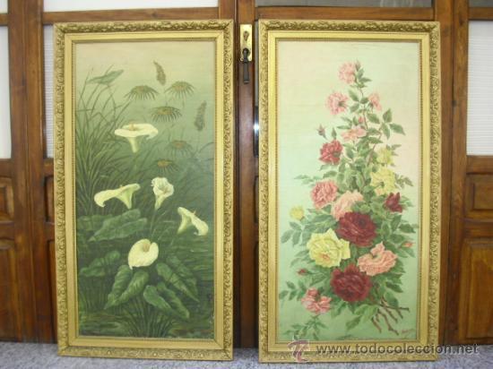 Antiguos cuadros oleo sobre lienzo siglo xix comprar - Cuadros pintura acrilica moderna ...