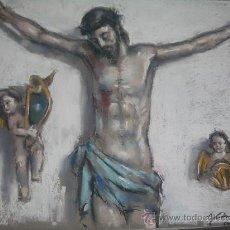 Arte: SENSACIONAL CRISTO Y ANGELES, OBRA DE COLECCIONISTA, JAUME QUERALT. Lote 26804677