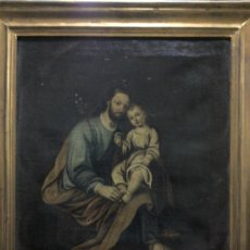 Arte: CUADRO OLEO LIENZO SIGLO XVIII (SAN JOSE CON NIÑO).. Lote 26361938
