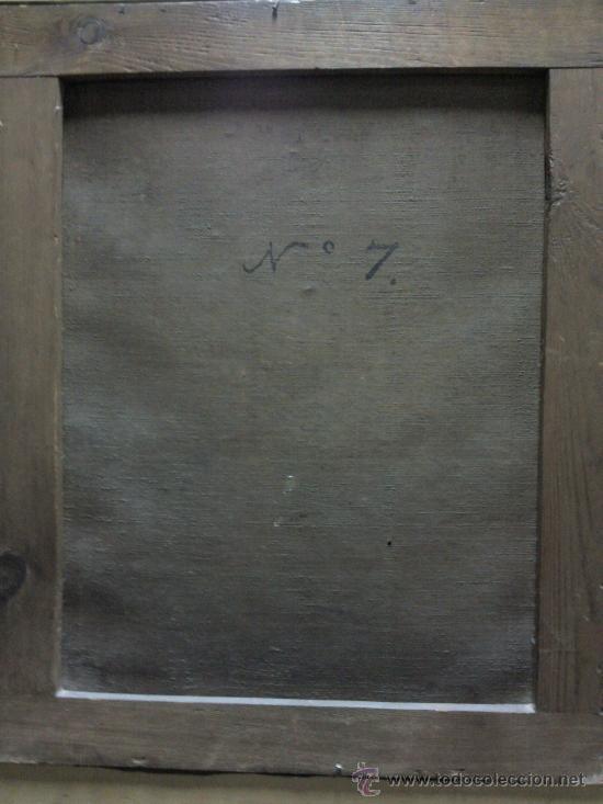 Arte: Cuadro oleo lienzo siglo XVIII (San Jose con niño). - Foto 7 - 26361938