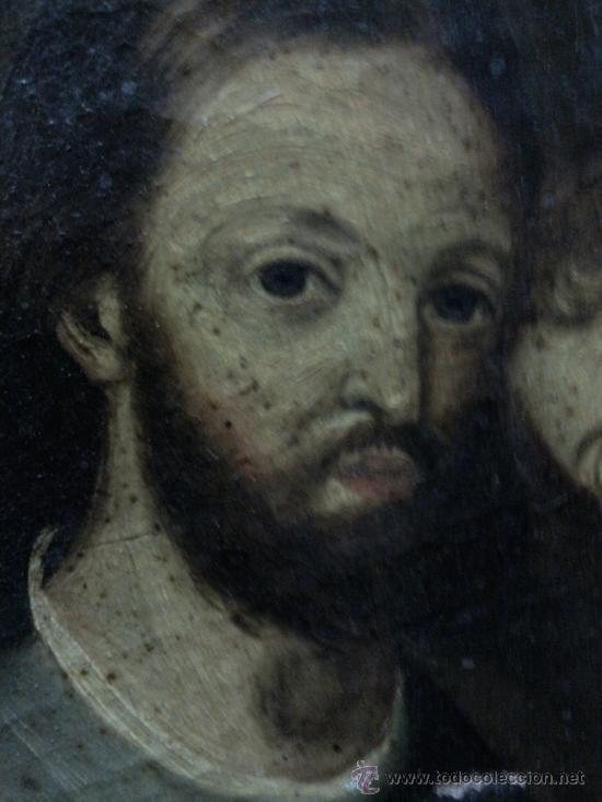 Arte: Cuadro oleo lienzo siglo XVIII (San Jose con niño). - Foto 9 - 26361938