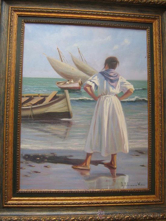 Cuadro oleo del famoso pintor valdomero mu oz l comprar for Comprar cuadros al oleo
