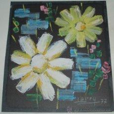Arte: FLORES PINTADAS POR EL RECONOCIDO DIBUJANTE LARRY. Lote 25699352