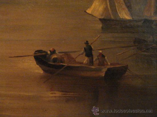 Arte: MARINA . ESCUELA HOLANDESA S.XVIII. OLEO SOBRE LIENZO - Foto 4 - 27055246