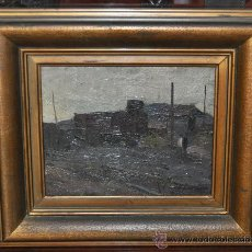 Arte: JOSEP VERDAGUER COMA (1923) (OLEO SOBRE CARTÓN) PAISAJE. Lote 24378244