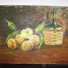 Arte: PINTURA AL OLEO DE BODEGON FIRMA DALMAU MEDIDAS 35 CM X 45 CM. Lote 22950053