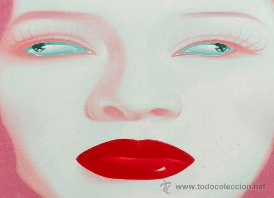 Arte: Feng Zhengjie (1968) China Portrait Series Óleo Contemporáneo Retrato Pintura Firmado y fechado 2004 - Foto 4 - 27178988