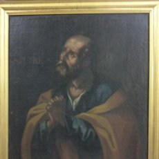 Arte: CUADRO ÓLEO LIENZO SIGLO XVII (SAN PEDRO) CON MARCO ANTIGUO. Lote 27386276