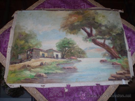 OLEO SOBRE LIENZO SIN BASTIDOR (Arte - Pintura - Pintura al Óleo Contemporánea )