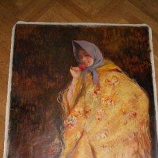 Arte: OLEO SOBRE LIENZO /ANGEL RUIZ DE LA CASA /EL CLAVEL 1990 . Lote 23543505