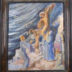 Kunst - OLIVER, ecce maiet tua. Crucificción sobre celuloide, 33 x 29 cm. - 23606056