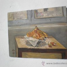 Arte: BODEGON AL OLEO TABLA. Lote 23623912