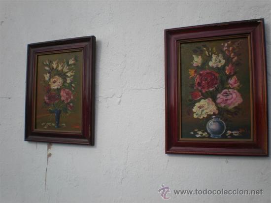 PAREJA DE OLEOS EN TABLAS ANTIGUOS (Arte - Pintura - Pintura al Óleo Antigua sin fecha definida)