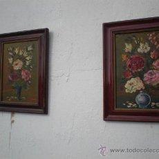 Arte: PAREJA DE OLEOS EN TABLAS ANTIGUOS. Lote 23624217