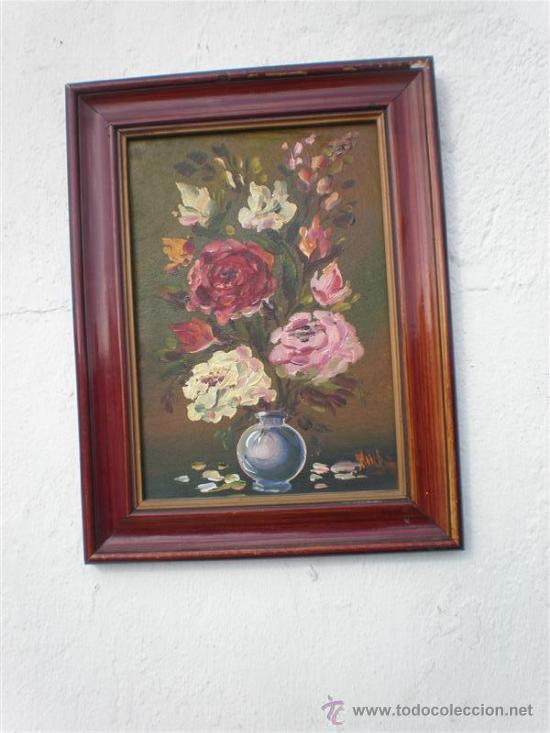 Arte: pareja de oleos en tablas antiguos - Foto 2 - 23624217