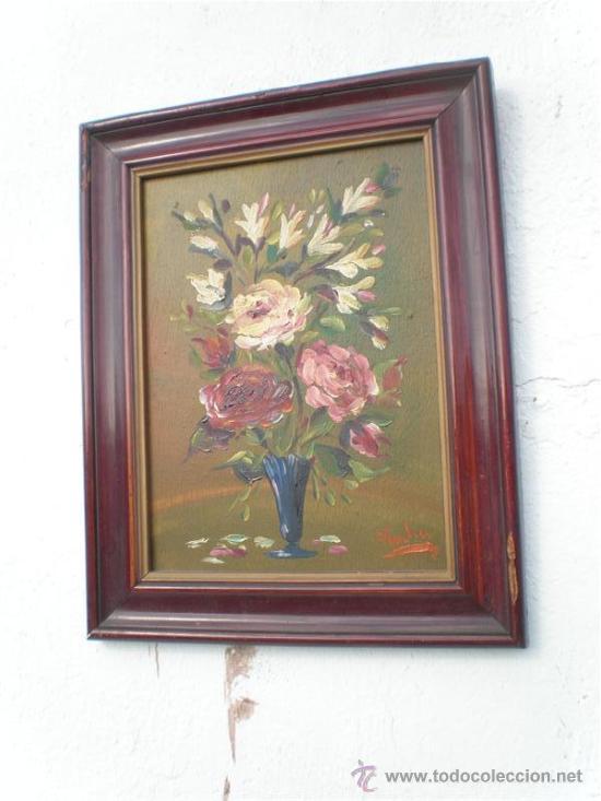 Arte: pareja de oleos en tablas antiguos - Foto 3 - 23624217