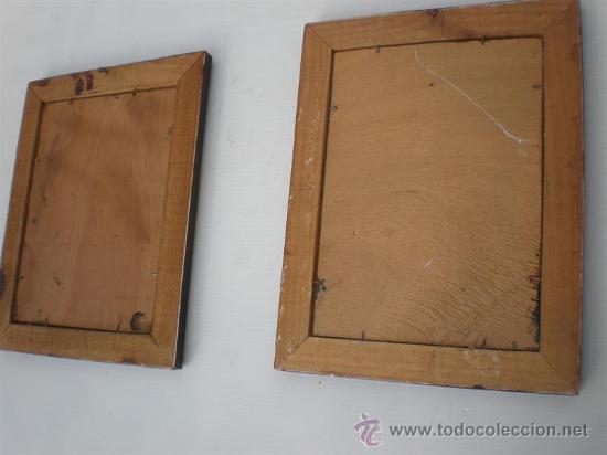 Arte: pareja de oleos en tablas antiguos - Foto 4 - 23624217