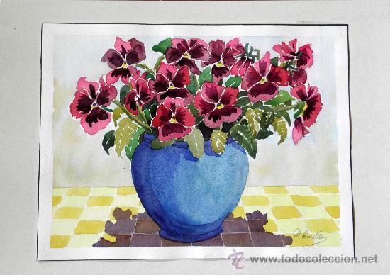 jarron de flores - Comprar Pintura al Óleo Contemporánea en ...
