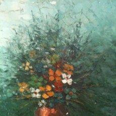 Arte: ROSALES. OLEO SOBRE LIENZO EN BASTIDOR. BODEGON FLORES. ENMARCADO. 60 X 51 CM. Lote 26862864