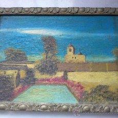 Arte: PEQUEÑO CUADRO ÓLEO CARTON, DEDICADO Y FECHADO AÑO 1966.. Lote 26942194