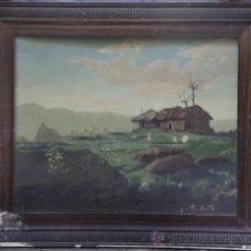 Arte: CERCANÍAS DE GAVÀ, 1940.FIRMADO: DE SOTO. ÓLEO SOBRE LIENZO 49X38 CM. MARCO: 62X51 CM.. Lote 24312127