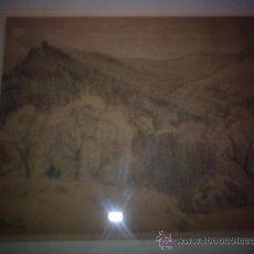 """Arte: ALFREDO SOUTO CUERO.LA CORUÑA 1862-1940.TITULADO """"CABAÑA"""". Lote 26669128"""