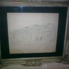 """Arte: MANUEL ABELENDA ZAPATA.LA CORUÑA 1889-1957 .TITULO""""PLAZA DE TRILLO"""". Lote 26669129"""