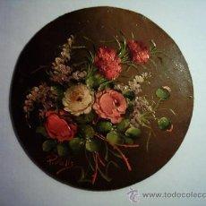 Arte: PEDRO VALS. FLORES. ÓLEO/TABLEX. 18 CM. FIRMADO.. Lote 27570795