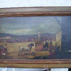 Arte - pintura española sobre tabla oleo del XIX 68cmx48cms no tiene marco solo la pintura - 26020397