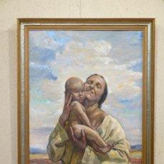 Arte: BERTIL NORÉN ( SUECIA, 1889-1934) - MATERNIDAD EXPRESIONISTA. Lote 27527683