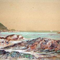 Arte: J LAWRENCE HART ( REINO UNIDO, 1830-1907 ) - PAISAJE COSTERO. Lote 26453760