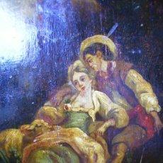 Arte: BONITO CUADRO OLEO SOBRE TABLA ROMANTICO S.XIX MIDE 24X32. Lote 26537048