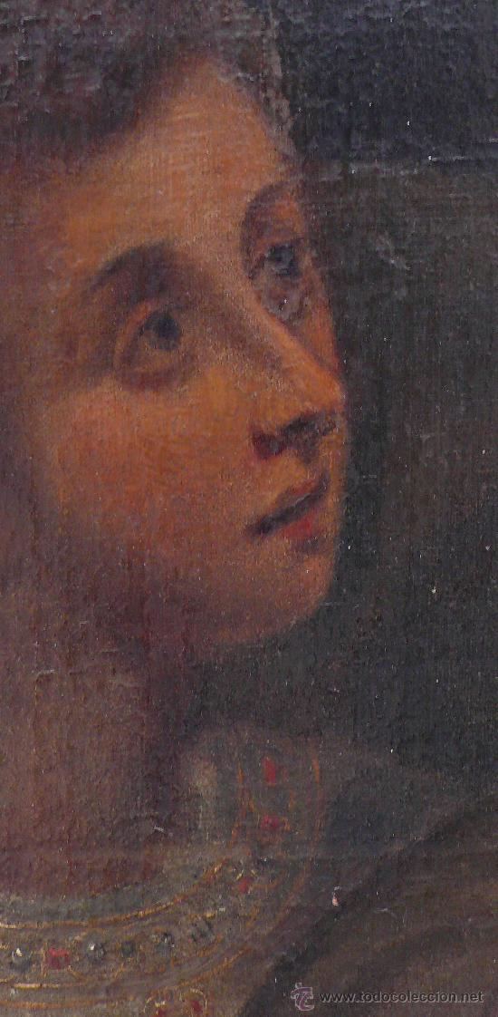 Arte: San Francisco de Asis, óleo sobre tela reentelado s. XVIII. 120x85 cm. - Foto 5 - 26603361