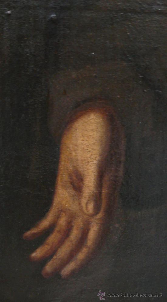 Arte: San Francisco de Asis, óleo sobre tela reentelado s. XVIII. 120x85 cm. - Foto 2 - 26603361