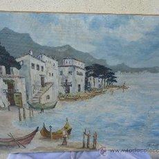 Arte: ANTIGUO CUADRO DE OLEO SOBRE TABLEX FIRMADO DE 84 CM X 62 CM EN . Lote 24981033