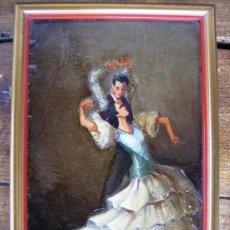 Arte: MUY BONITO OLEO SOBRE TABLA DEL XIX FIRMADO POR G. LOIS MADRID 20X14CMS. Lote 26817319