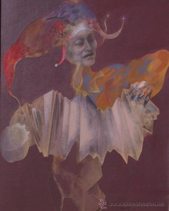 ALFONSO COSTA BEIRO 1981 - OBRA CATALOGADA - ACRÍLICO SOBRE TELA - ARLEQUÍN (Arte - Pintura - Pintura al Óleo Contemporánea )