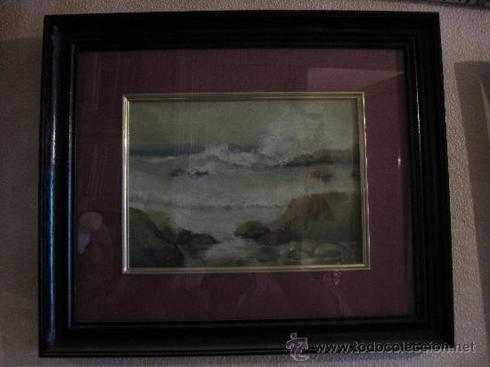 marina al oleo sobre tela sin bastidor, enmarca - Comprar Pintura al ...