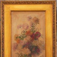Arte: J. GUARDIOLA, BODEGÓN DE FLORES FIRMADO, TELA: 38X60 CM. MARCO: 63X85 CM. ÓLEO SOBRE TELA.. Lote 25261261
