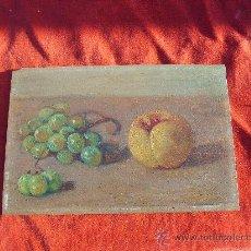 Arte: ANTIGUO OLEO SOBRE TABLA,BODEGON,SIN FIRMAR. Lote 26939180