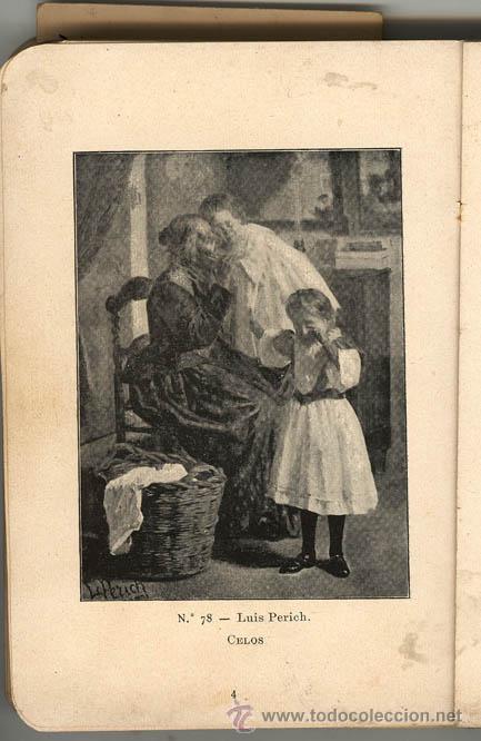 Arte: LUIS PERICH SOLA - 1878 - 1903 Oleo sobre tabla. 20,2 x 27,5 cms - Vell i Bell - Foto 7 - 26946134