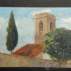 Arte: OLEO SOBRE TELA PEGADO SOBRE TABLA, PAISAJE, FIRMADO LLARRAMENDI. Lote 25653210