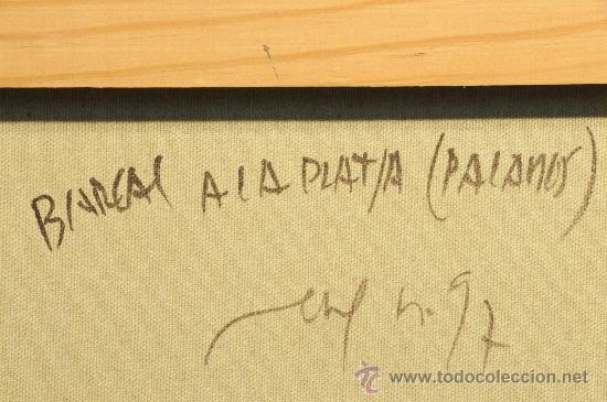 Arte: Oleo sobre tela, marina Palamos, firmado Pere Noguera - Foto 4 - 25653055