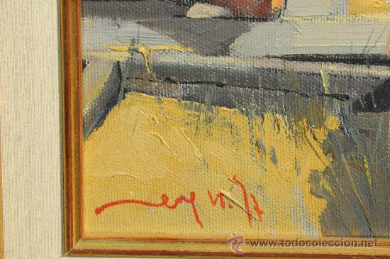 Arte: Oleo sobre tela, marina Palamos, firmado Pere Noguera - Foto 3 - 25653055