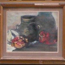 Arte: BODEGÓN ENMARCADO Y FIRMADO, MARCO: 50X57 CM. TELA: 30X38 CM.. Lote 25896477