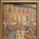 Arte: BONAVENTURA CASAS (VALLS, TARRAGONA.1861-1907) PLAZA Y MERCADO POR IDENTIFICAR, ÓLEO SOBRE LIENZO.. Lote 93759092