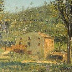 Arte: OLEO SOBRE CARTÓN, PAISAJE, FIRMADO G.MIRÓ, AÑO 1941. Lote 26184681