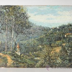 Arte: OLEO SOBRE CARTÓN, PAISAJE, FIRMADO G.MIRÓ, AÑO 1941. Lote 26184773